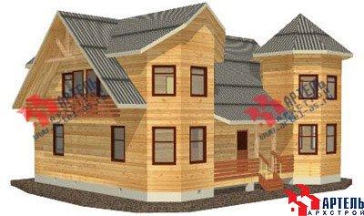 двухэтажный дом из бруса площадью свыше 200 кв. м. с  балконом, мансардой, террасой, эркером, проект Вариант 11.5 А фотография 1382