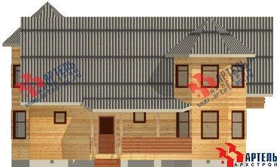 двухэтажный дом из бруса площадью свыше 200 кв. м. с  балконом, мансардой, террасой, эркером, проект Вариант 11.5 А фотография 1386