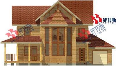 трёхэтажный дом из бруса площадью свыше 200 кв. м. с  балконом, гаражом, мансардой, террасой, эркером, проект Вариант 12.3 А фотография 1421