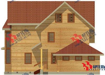 трёхэтажный дом из бруса площадью свыше 200 кв. м. с  балконом, гаражом, мансардой, террасой, эркером, проект Вариант 12.3 А фотография 1422
