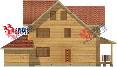 трёхэтажный дом из бруса площадью свыше 200 кв. м. с  балконом, гаражом, мансардой, террасой, эркером, проект Вариант 12.3 А фотография 1423