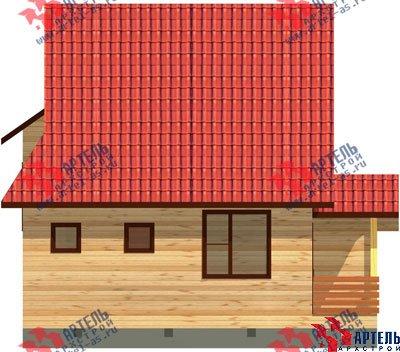 двухэтажный дом из профилированного бруса площадью от 100 до 150 кв. м. с  мансардой, эркером, проект Вариант 6.7 А фотография 886