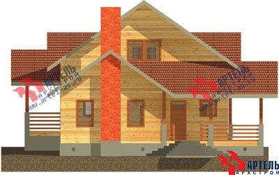 двухэтажный дом из бруса площадью свыше 200 кв. м. с  балконом, мансардой, террасой, проект Вариант 10 Г фотография 1345