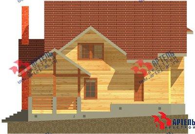 двухэтажный дом из бруса площадью свыше 200 кв. м. с  балконом, мансардой, террасой, проект Вариант 10 Г фотография 1346