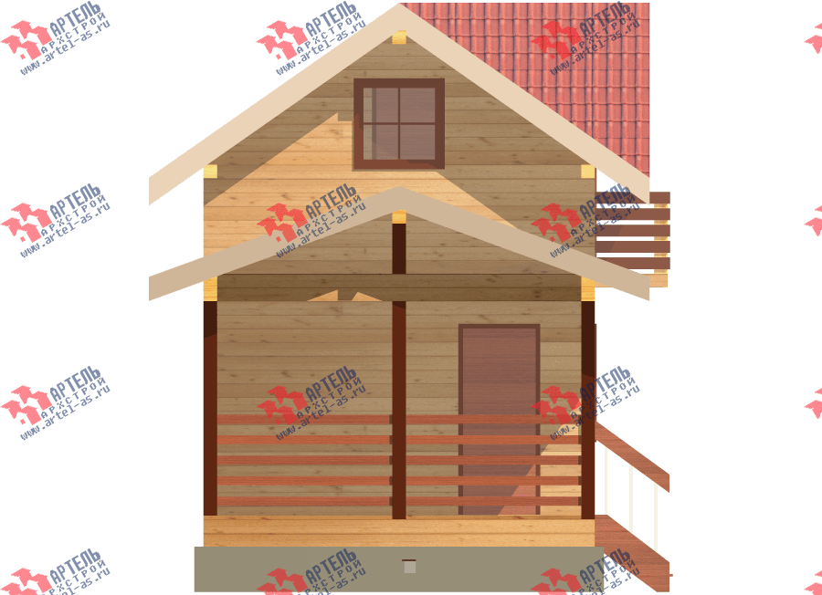 двухэтажный дом из профилированного бруса площадью до 100 кв. м., проект Вариант 7 фотография 3351