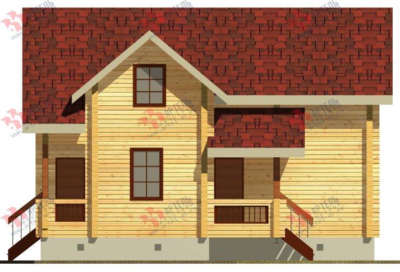 двухэтажный дом из профилированного бруса площадью от 100 до 150 кв. м. с  балконом, проект Вариант 9.5 К фотография 70