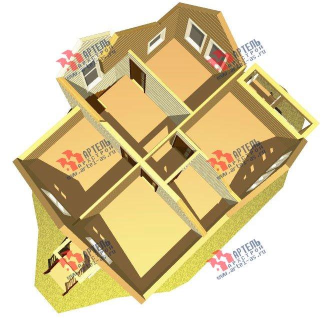 двухэтажный дом из профилированного бруса камерной сушки площадью от 100 до 150 кв. м. с  мансардой, проект Вариант 4 фотография 2508