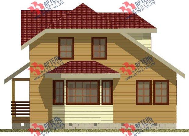 двухэтажный дом из профилированного бруса камерной сушки площадью от 100 до 150 кв. м. с  мансардой, эркером, проект Вариант 2 фотография 2533