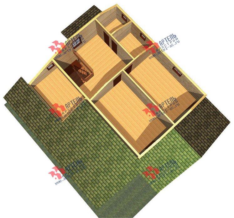 двухэтажный дом из бруса площадью свыше 200 кв. м. с  мансардой, террасой, проект Вариант 11 Л-1 фотография 2628