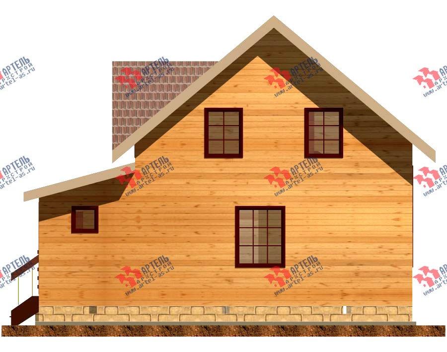 двухэтажный дом из профилированного бруса площадью от 100 до 150 кв. м. с  террасой, проект Вариант 7.2 А фотография 2659