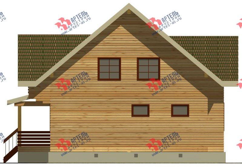 двухэтажный дом из бруса площадью от 150 до 200 кв. м. с  балконом, террасой, эркером, проект Вариант 12.4 А фотография 2682