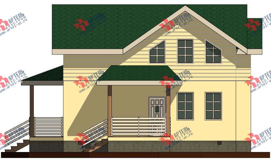 двухэтажный дом из профилированного бруса камерной сушки площадью от 100 до 150 кв. м. с  мансардой, проект Вариант 6 фотография 2791