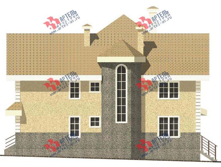 трёхэтажный дом из камня площадью свыше 200 кв. м. с  балконом, мансардой, эркером, проект Вариант 24 фотография 2744