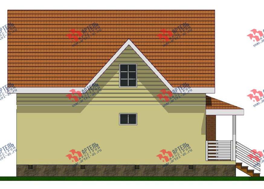двухэтажный дом из профилированного бруса камерной сушки площадью от 100 до 150 кв. м. с  мансардой, эркером, проект Вариант 7 фотография 2802
