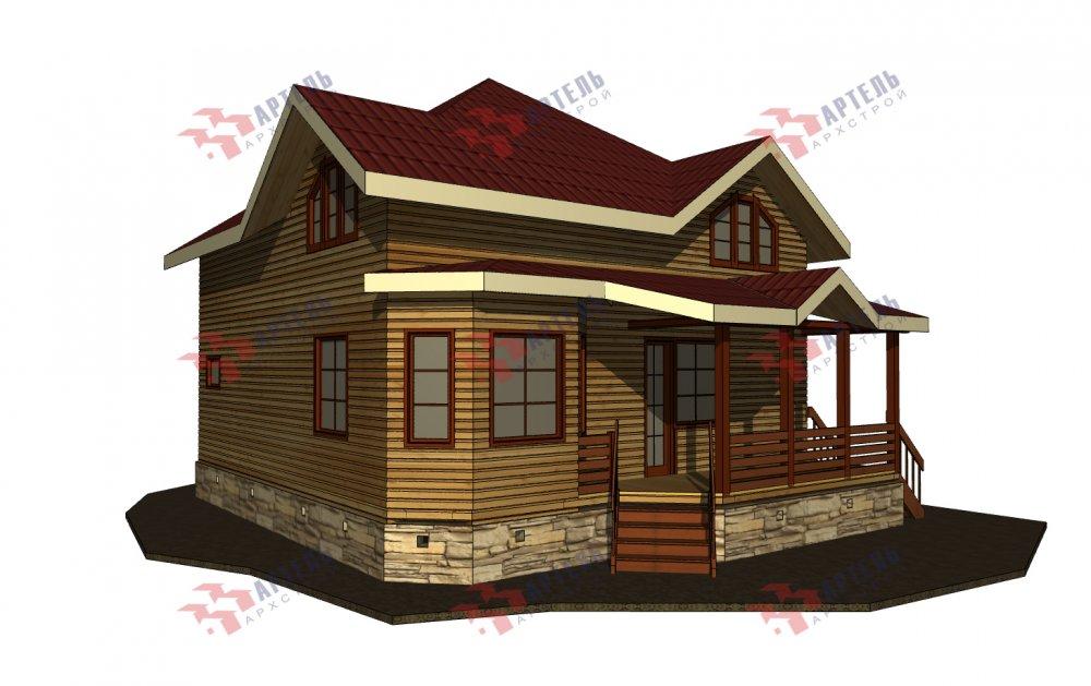 одноэтажный дом из профилированного бруса площадью от 150 до 200 кв. м., проект Вариант 9.3В фотография 5636
