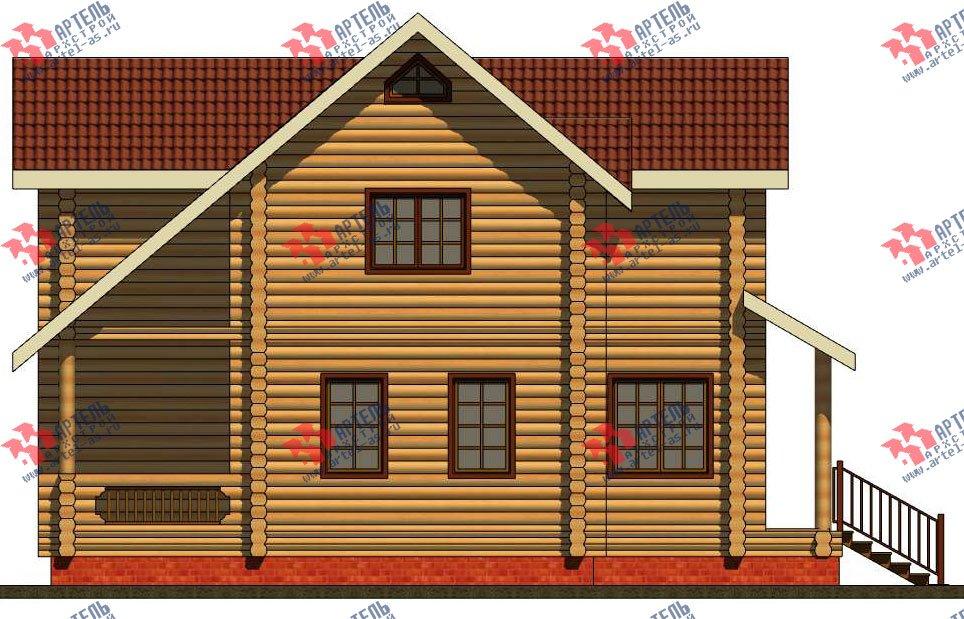 двухэтажный дом из оцилиндрованного бревна площадью от 100 до 150 кв. м. с  террасой, проект Вариант 6 фотография 3095