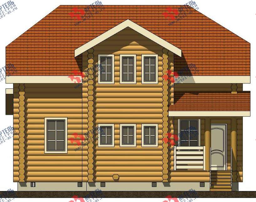 двухэтажный дом из оцилиндрованного бревна площадью от 150 до 200 кв. м. с  мансардой, проект Вариант 7 фотография 3106