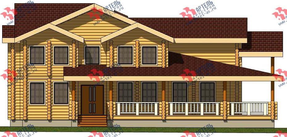 двухэтажный дом из оцилиндрованного бревна площадью свыше 200 кв. м. с  террасой, проект Вариант 8 фотография 3118