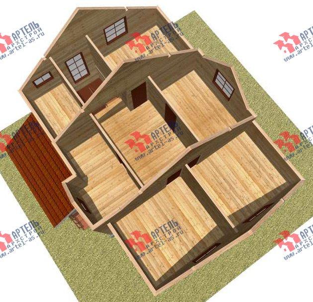 двухэтажный дом из бруса площадью от 150 до 200 кв. м. с  мансардой, проект Вариант 11 Л-2 фотография 3168