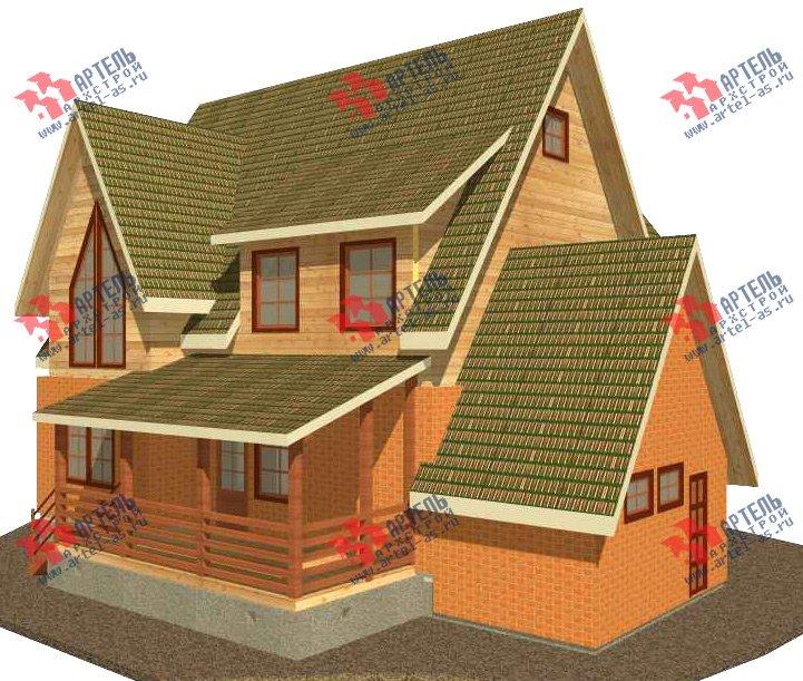 двухэтажный дом из камня площадью свыше 200 кв. м. с  террасой, проект Вариант 29 фотография 3177