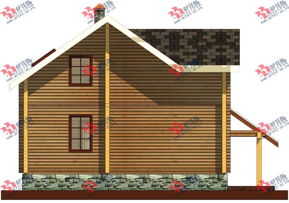 двухэтажный проект площадью от 100 до 150 кв. м. с  мансардой, террасой, проект Вариант 8.7 А фотография 3282