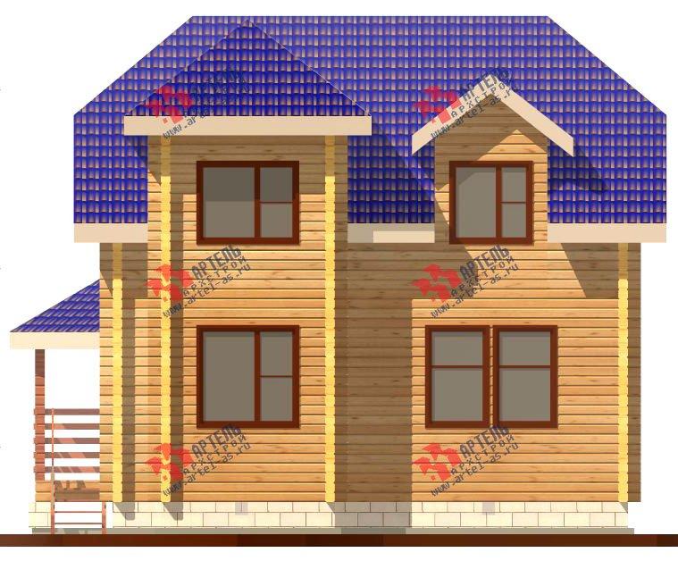 двухэтажный дом из профилированного бруса площадью от 100 до 150 кв. м. с  мансардой, эркером, проект Вариант 8 Т фотография 244