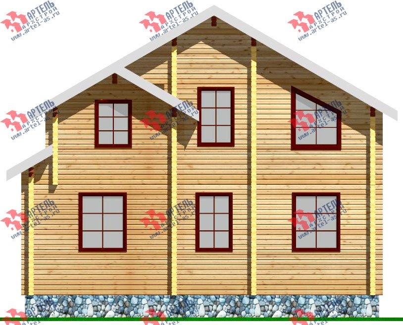 двухэтажный дом из профилированного бруса площадью от 100 до 150 кв. м. с  балконом, мансардой, проект Вариант 9.3 К фотография 255
