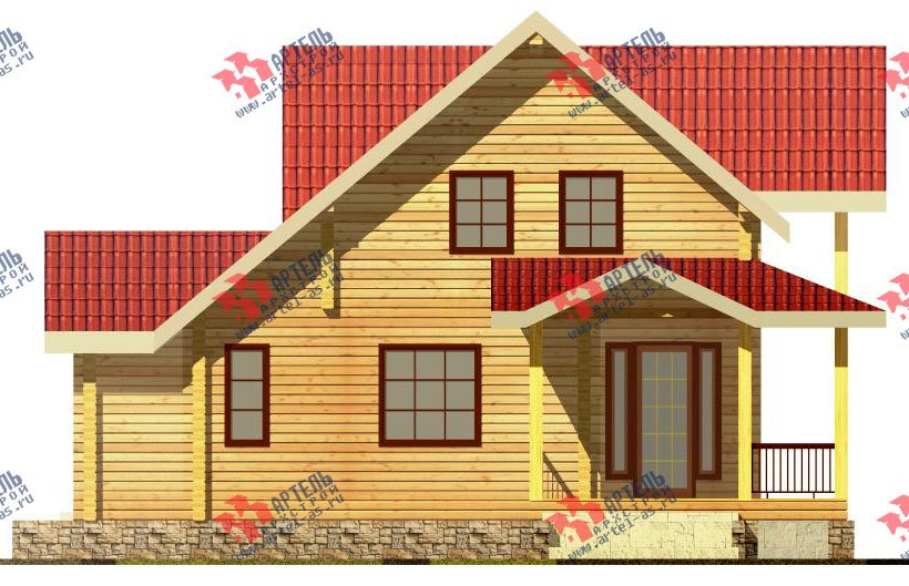двухэтажный дом из профилированного бруса площадью от 150 до 200 кв. м. с  мансардой, террасой, проект Вариант 8.5 Л фотография 82