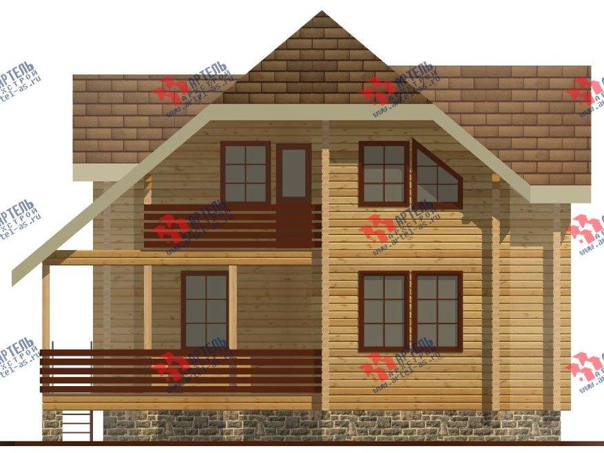 двухэтажный дом из профилированного бруса площадью от 100 до 150 кв. м. с  верандой, мансардой, эркером, проект Вариант 8.2 К фотография 353