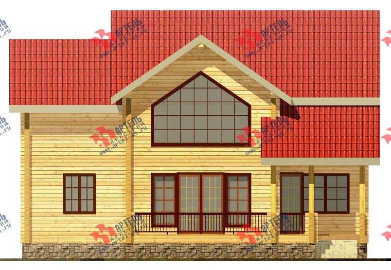 двухэтажный дом из профилированного бруса площадью от 150 до 200 кв. м. с  мансардой, террасой, проект Вариант 9.5 Т фотография 91