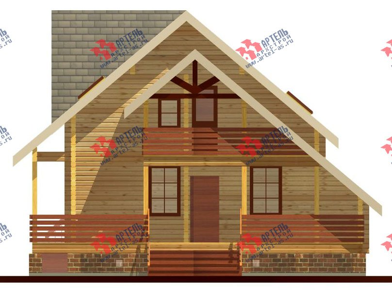 двухэтажный дом из профилированного бруса площадью от 150 до 200 кв. м. с  балконом, террасой, проект Вариант 7.7 А фотография 385