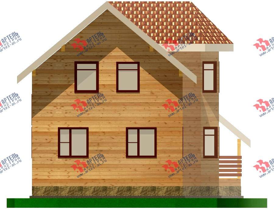 двухэтажный дом из бруса площадью от 100 до 150 кв. м. с  балконом, мансардой, эркером, проект Вариант 6.2 К фотография 759