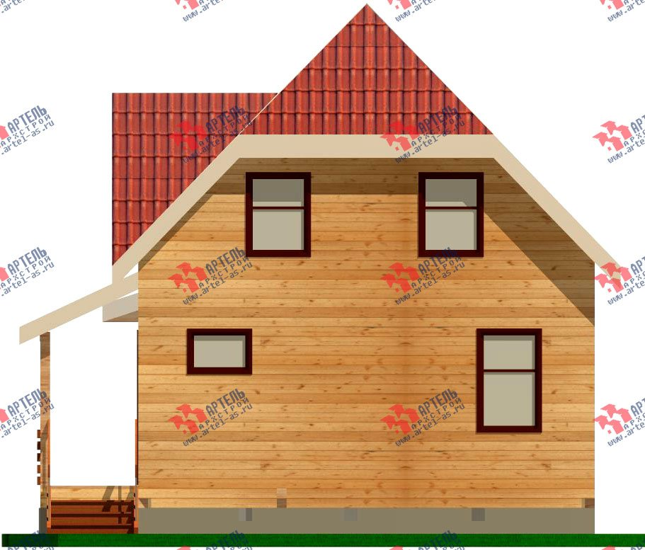 двухэтажный дом из профилированного бруса площадью до 100 кв. м. с  мансардой, эркером, проект Вариант 7 Е-1 фотография 838
