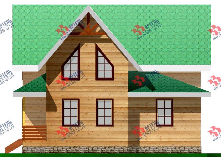 двухэтажный дом из профилированного бруса площадью от 100 до 150 кв. м. с  мансардой, проект Вариант 7.3 Б фотография 927