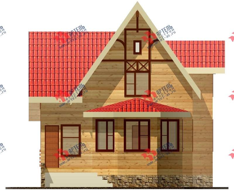 двухэтажный дом из бруса площадью от 100 до 150 кв. м. с  верандой, мансардой, эркером, проект Вариант 8.5 Г фотография 995