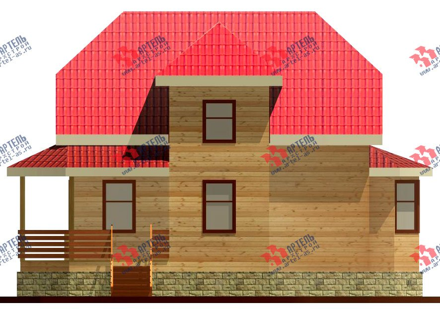 двухэтажный дом из бруса площадью от 100 до 150 кв. м. с  мансардой, террасой, эркером, проект Вариант 8 Д-1 фотография 1015