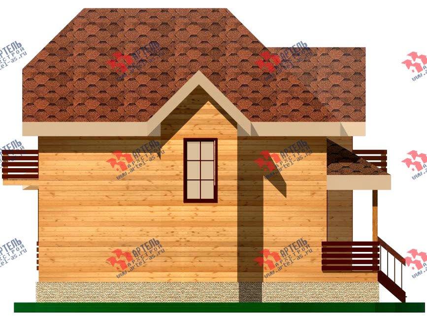 двухэтажный дом из бруса площадью от 100 до 150 кв. м. с  балконом, мансардой, эркером, проект Вариант 9.3 В фотография 1131