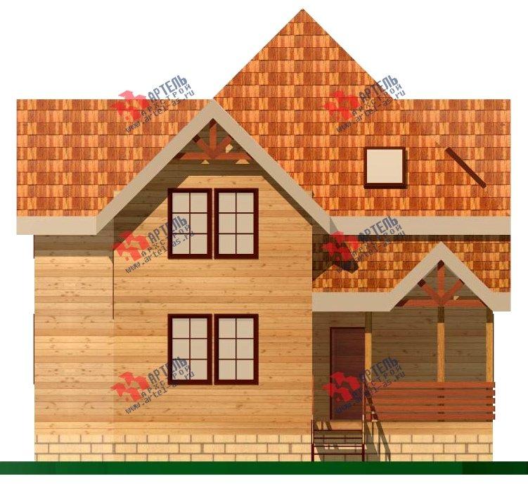 двухэтажный дом из бруса площадью от 150 до 200 кв. м. с  верандой, проект Вариант 8.6 А фотография 1160