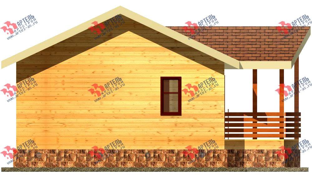 одноэтажный дом из профилированного бруса площадью до 100 кв. м., проект Вариант 2 фотография 1535