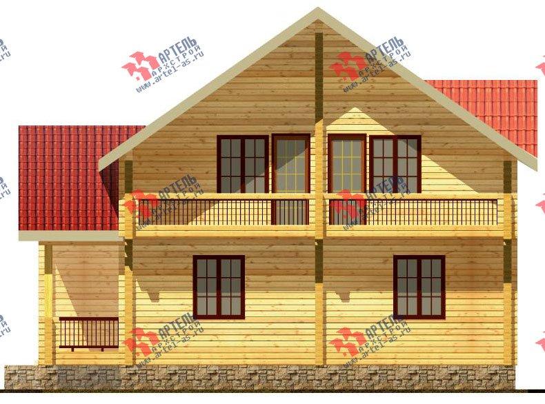 двухэтажный дом из бруса площадью свыше 200 кв. м. с  балконом, мансардой, проект Вариант 11.4 А фотография 124