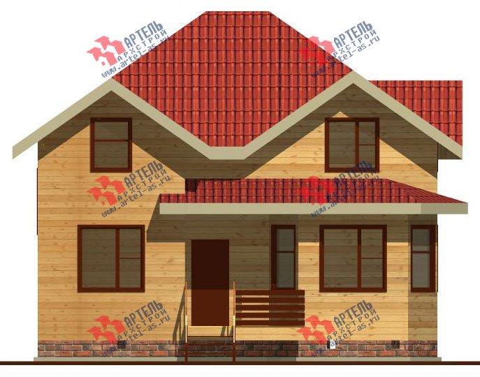 двухэтажный дом из бруса площадью от 100 до 150 кв. м. с  мансардой, эркером, проект Вариант 9 Г фотография 2201