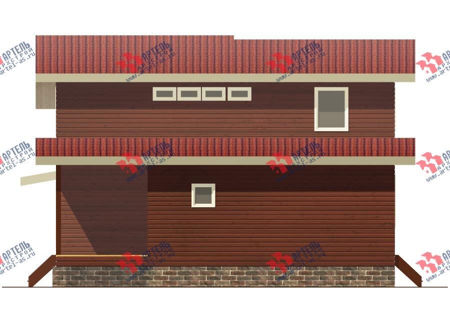 двухэтажный дом из бруса площадью от 150 до 200 кв. м. с  мансардой, проект Вариант 12.2 А фотография 2215