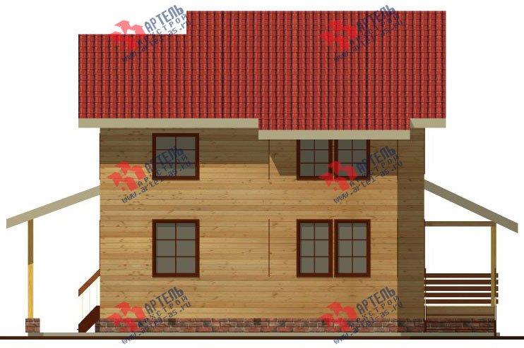 двухэтажный дом из бруса площадью от 150 до 200 кв. м. с  мансардой, террасой, проект Вариант 13 В фотография 2223
