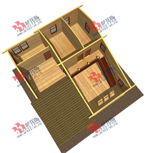двухэтажный дом из бруса площадью свыше 200 кв. м. с  балконом, проект Вариант 10.7 А фотография 2246