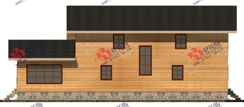 двухэтажный дом из бруса площадью свыше 200 кв. м. с  балконом, мансардой, террасой, проект Вариант 18 А фотография 2419
