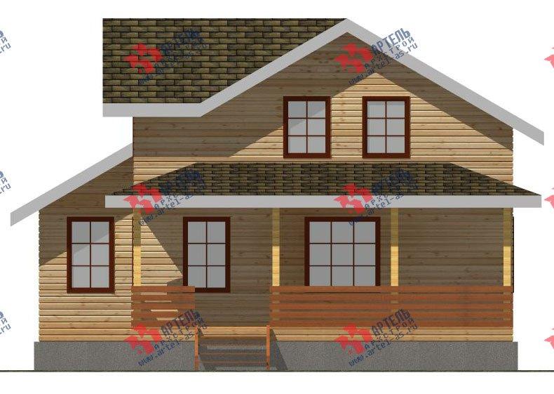 двухэтажный дом из профилированного бруса площадью от 100 до 150 кв. м. с  мансардой, террасой, проект Вариант 8.8 Б фотография 2455