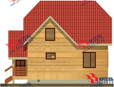 двухэтажный дом из бруса площадью от 100 до 150 кв. м. с  мансардой, проект Вариант 8 В фотография 968