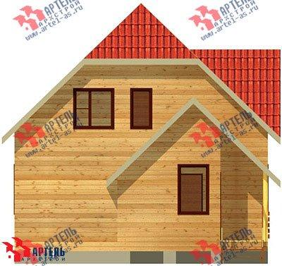 двухэтажный дом из бруса площадью от 100 до 150 кв. м. с  мансардой, проект Вариант 8 В фотография 969