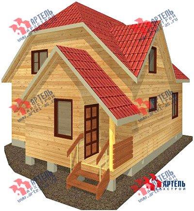 двухэтажный дом из бруса площадью от 100 до 150 кв. м. с  мансардой, проект Вариант 8 В фотография 967