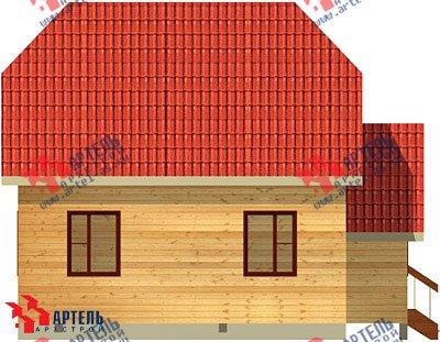 двухэтажный дом из бруса площадью от 100 до 150 кв. м. с  мансардой, проект Вариант 8 В фотография 970